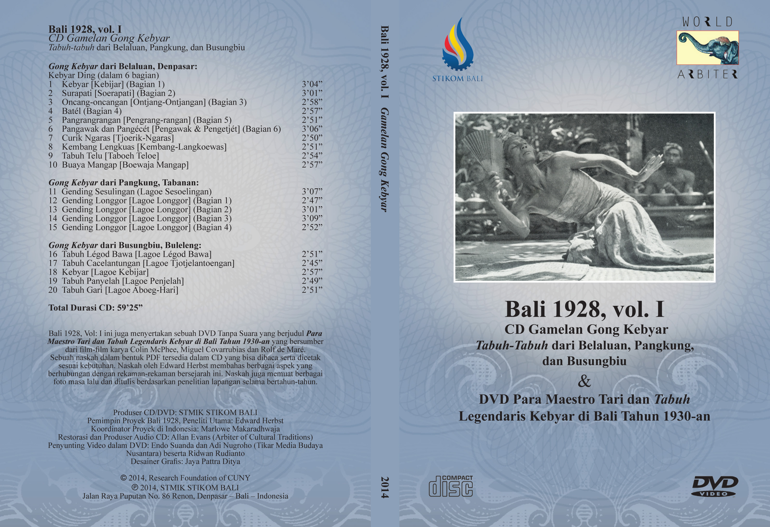 Bali 1928, Vol I: Gamelan Gong Kebyar