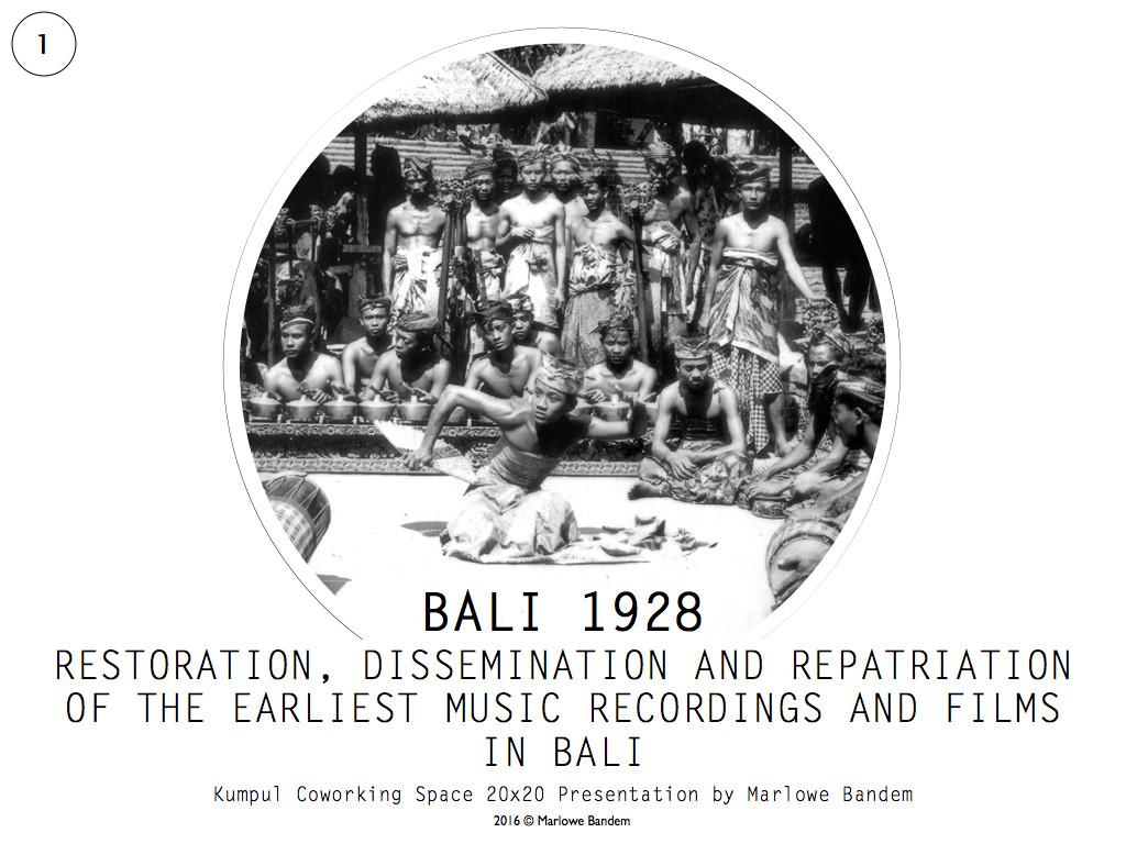 Marlowe Bandem 20 x 20 Bali 1928.001-001