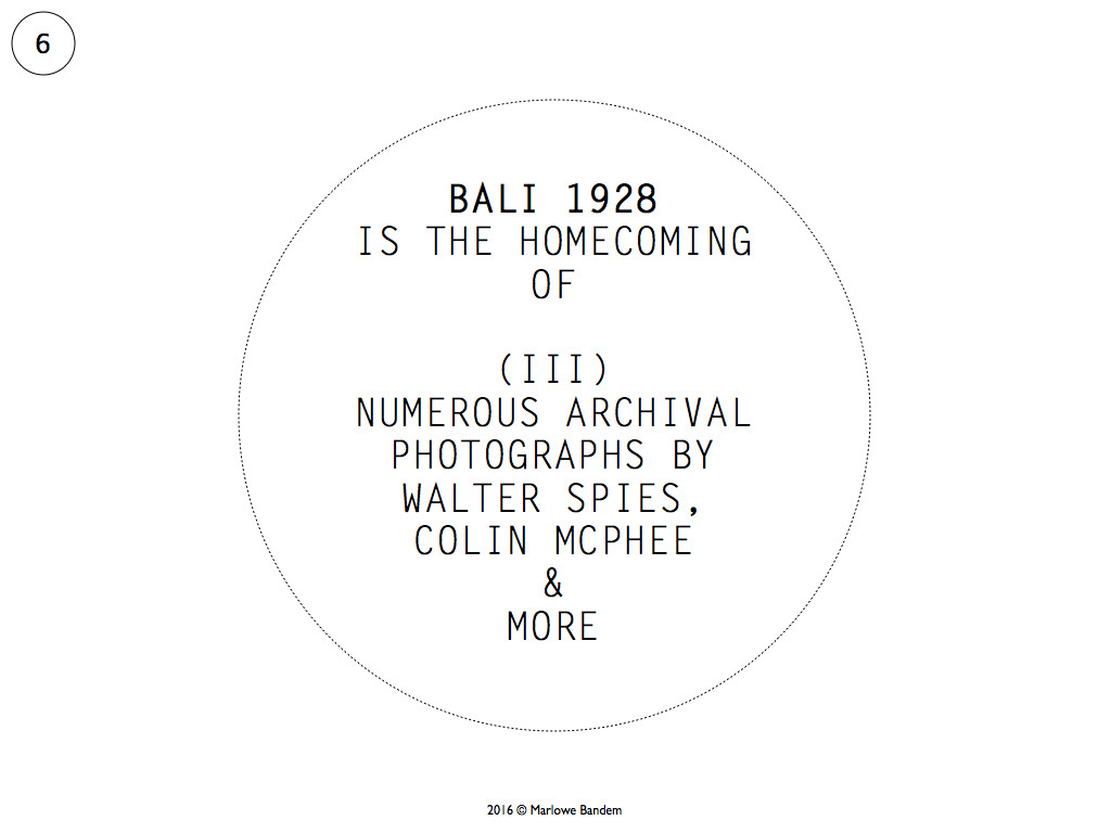 Marlowe Bandem 20 x 20 Bali 1928.006-001