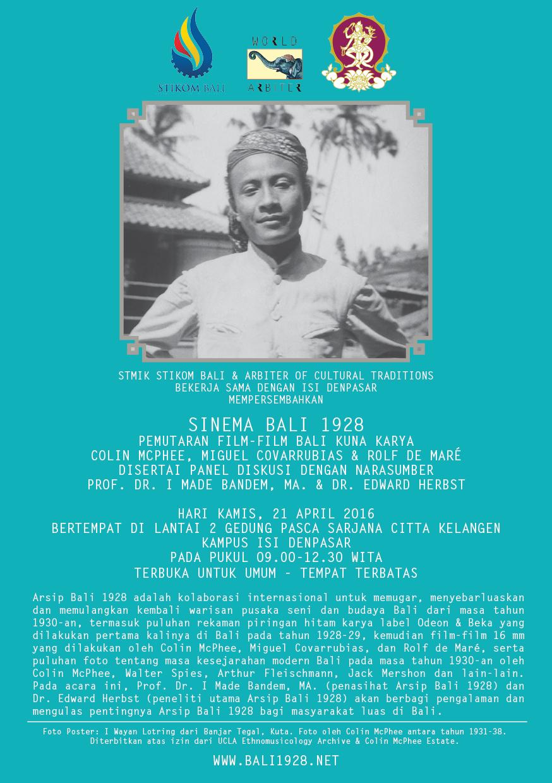 Poster Bali 1928 ISI Denpasar