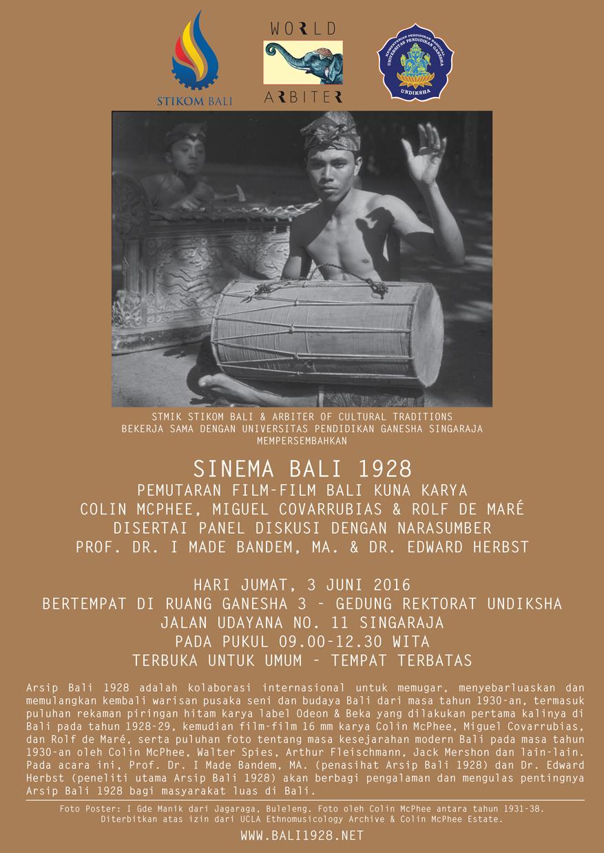 Poster-Bali-1928-UNDIKSHA-Singaraja